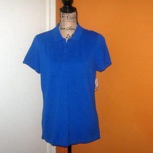 St Johns Bay Large Racing Blue Womens Polo